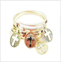 Wholesale Hot Sale Women Alex and Ani Bangle Alloy bracelet pendant cross Love Alloy Bracelets