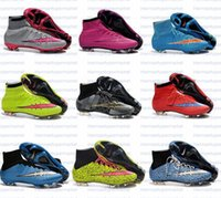 Wholesale 2014 Soccer Shoe Dogs Cr7 Mercurial Superfly Football Shoe Malaysia Vapor Shoes Soccer Footwear Superfly FG high shoe Can Drop Shipping