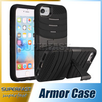 Wholesale For iPhone Armor Case In Hybrid Soft TPU Hard PC Case Back Cover Kickstand Case for Galaxy On with OPP Package