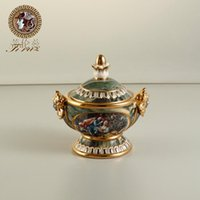 Wholesale Continental dual relief of small ceramic ornaments crafts storage altar furnishings creative fashion new romantic