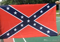 Wholesale TConfederate Battle Flags Two Sides Printed Consfederate Flag Confederate Rebel Civil War Flag National Polyester Flags