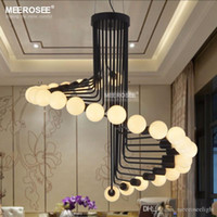 Wholesale Modern Loft Industrial Chandelier Lights Bar Stair Dining Room Lighting Retro Meerosee Chandeliers Lamps Fixtures Lustres