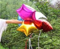 Wholesale Hot Sale Mixed Colors inch Aluminum Foil Star Balloons Birthday Party Wedding Decorate MU671216