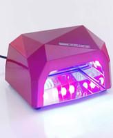 Wholesale 2016 New Fashion CCFL W LED Light Diamond Shaped Best Curing Nail Dryer Nail Art Lamp Care Machine for UV Gel Nail Polish