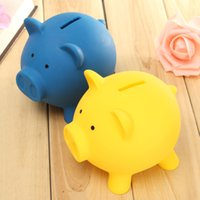 bank money supply - Vinyl Pig Toy Saving Coins Money Cash Coin Collection Box Piggy Bank Kid Children Birthday Gift Cute Supplies