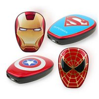 america power supply - New Arrival Cool Portable Power Bank The Avengers Captain America Charger Mobile Power Supply Universal PowerBank