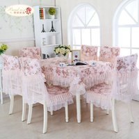 Wholesale 1 Piece Modern Rural Bud Silk Decoration Table cloth Europe Type Tea Table Cloth Tablecloth Lace Tablecloth