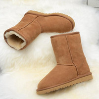 b warmer - 2016 Quality Brand Genuine Snow Boots Women Warm Short Boots Female Leather Boots With Fur Feminina Bota