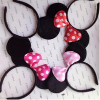 Wholesale COSPLAY Headwear Mickey Minnie mouse ears Hairdband Hair accessories for Party Children and adults