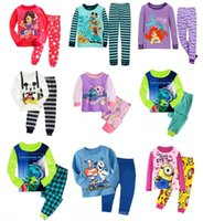 Cheap 6 Sets  lot Children Baby Boy's Girl's Kids Pajamas Suit Monsters INC The Little Mermaid My Pony Boys Girls Sleepwear Homewear Pyjamas Set