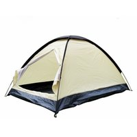 Wholesale Rainproof polyester ultralight Person UV Protection Outdoor travel Camping Hiking dome Tent Single Layer beach shelter tent
