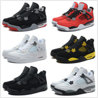 Cheap Wholesale Retro 4 Basketball Shoes Men Cheap J4 IV Boots Authentic Online For Sale Sneakers Mens Sport Shoes Free Shipping Size 7-13