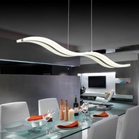 10sq.m ~ Under art deco types - LED Acylic Pendant Light wavy S type Modern for living room Wave Acrylic pendant lamp dinning room Pendant Lighting AC85 V