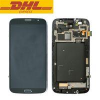 Pour Samsung Galaxy Mega 6.3 i9200 i9205 LCD écran tactile écran avec Digitizer + Bezel cadre pièces de réparation en gros