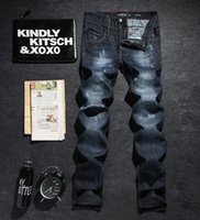 best motorcycle jeans - Best Price Top Quality Autumn Winter New Men s PHILIPP PLEI N PP Logo Silm Wash Scratch Patch Motorcycle Jeans