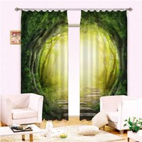 Wholesale Blackout Curtains D Curtain set for bedroom living room window drapes green light whimsical tailor made Designer Luxury Modern