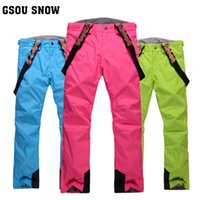 Wholesale Gsou snow ski pants snowboard pantssnow pants women s trousers breathable windproof and waterproof hiking outdoor sports