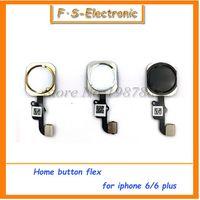 Wholesale 10pcs NEW Home Button with Flex Cable for iPhone quot plus quot Black White Gold Home Flex Assembly
