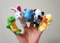 baby toys flannel - Plush finger Puppets Baby Lovely Mini Animal Finger Dolls Tell A Story Toy Flannel Toy Fingures Puppet Early Learning