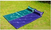 Wholesale Outdoor camping sleeping mat automatic inflatable cushion can be spliced double mats