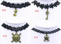 Wholesale 2016 lace chokers necklaces gothic pendant necklace vintage fashion velvet necklace black statement necklaces for women styles