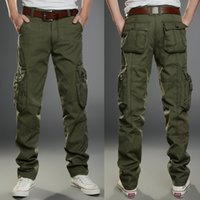 Wholesale Mens Big Size Army Green Cargo Pants Outdoor Casual Pant Male Multi Pocket Military Camouflage Pants Men Pockets Trousers KM1614