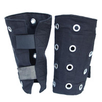 arm operations - Protective Anti cutting Wristband Steel Bracers For Glass Operation Staff Denim Fabric Wrister Protective Equipment For Arm