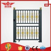 aluminum driveway gate - electric automatic aluminum alloy sliding folding driveway gate L1535