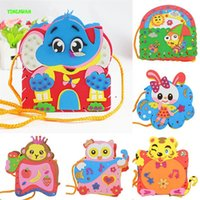 Wholesale Make Eva Handmade Backpack Child DIY Foam Art Craft Kit Bag Kindergarten Educational Toys pieces