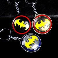 Wholesale DC Comics Batman Metal Logo Keychain Zinc Alloy Key Ring Pendant comic figure pendant accessories Key Ring Bronze silver black