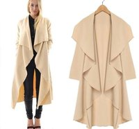 Women's spring coats - Hot Style Fashion Long Women Coats Spring and Autumn Women s clothing Long Sleeve Coats Ruffle Long Knee Length Trench Coats