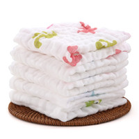Wholesale Soft Baby Towel Cotton Bath Set Toallas Handkerchief Cute Baby Muslin Gauze Wipes Newborn Baby Face Towel Children Square A0001