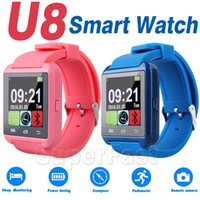 Wholesale Bluetooth Smartwatch U8 Watch Wireless Bluetooth Smart Watch U8 Watch WristWatch For Samsung NOTE4 Android Phone Smartphones With Retail BOX