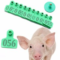 Wholesale New Arrival Green Number Animals Pig Cattle Goat Pig Sheep Ear Tag Livestock Tags Labels