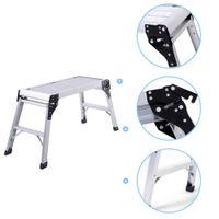 aluminum step bench - 2016 HD EN131 Aluminum Platform Drywall Step Up Folding Work Bench Stool Ladder