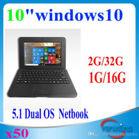 Wholesale 50pcs inch Windows Android Dual OS mini Netbook WIFI HDMI Output laptop notebook for student YX BJ