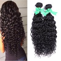 Wholesale brazilian water wave brazilian human hair styles natural black spanish curly hair weave a human hair