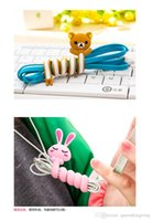 Wholesale Animals Cable Winder Moblie Earphone Bobbin Winder Cable Holder Organizer Cartoon animal shape winder cable bobbin winder fashion DHL free