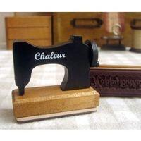 album machine - Wooden Sewing Machine Stamp Wood Happy Birthday Stamps for Photo Album Scrapbooking Creative Gift