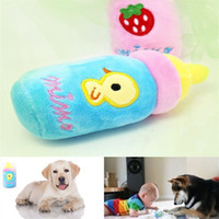 Wholesale Cartoon Toys Chew Plush Sound Feeding Bottle Pet Dog Cat Puppy L034