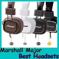 Cheap Marshall Major headphones With Mic Deep Bass Headsets DJ Hi-Fi Earphones Professional DJ Monitor Headphone Free Shipping DHL