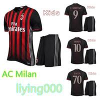 ac a kid - A Quality AC milan kids jersey MENEZ kids kit soccer shirt survetement Maldini BALOTELLI Football shirts