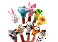 Wholesale Hot Sale Express Finger Puppets Plush Toy Talking Props Different Animals Set Toys For Baby Children