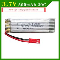 Wholesale Lipo Battery V mAh C Quadcopter V959 V222 H07N U818A U815A High Endurance High quality with voltage protection board