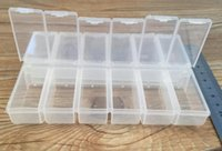 household items - Hot sale grid PP material transparent plastic box electronics components jewelry household items storage box