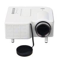 Wholesale Original EXCELVAN UC28 Portable Mini Hd LED Projector Cinema Theater Support PC Laptop VGA USB SD AV HDMI EU Plug