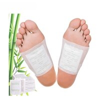bamboo foot massage - 2Pcs Kinoki Detox Foot Pads Organic Herbal Cleansing Patches Plaster Improve Sleep Bamboo Massage Relax Pain Relief B010