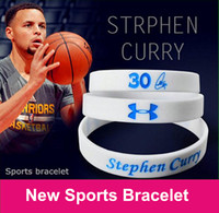 jelly bracelets - 2016 Newly Stephen curry four color silicone bracelet wristband curry signature cherished sports bracelet Love curry loyal fans