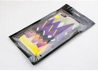clip handbag - 300pcs Blank Plastic Zipper OPP Bags Personality Design Premium Zip Lock PVC Gift Bags Wireless Store Phone Cases Bags