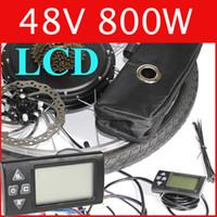 Wholesale 48V W LCD Electric Bike Disc brake kit DC hub motor conversion kits ebike kits Front wheel or rear wheel